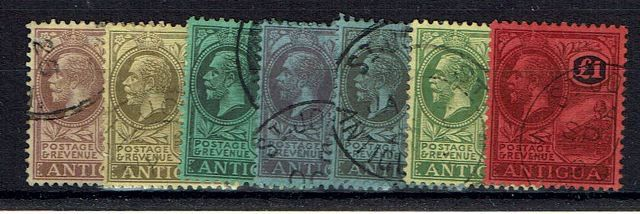 Image of Antigua SG 55/61 FU British Commonwealth Stamp