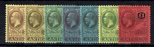 Image of Antigua SG 55/61 MM British Commonwealth Stamp