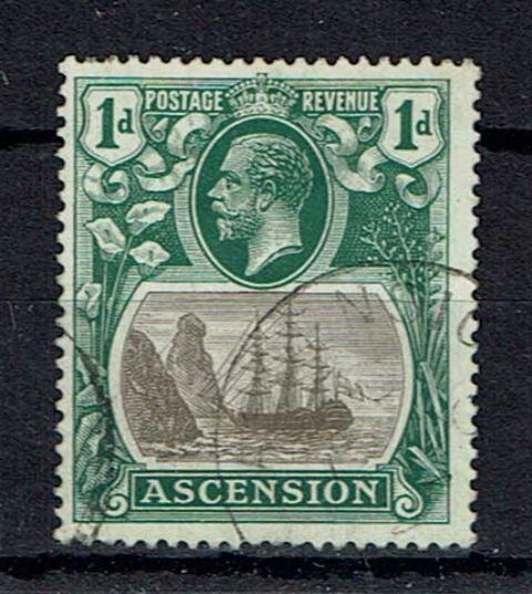 Image of Ascension SG 11b FU British Commonwealth Stamp