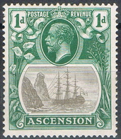 Image of Ascension SG 11b LMM British Commonwealth Stamp