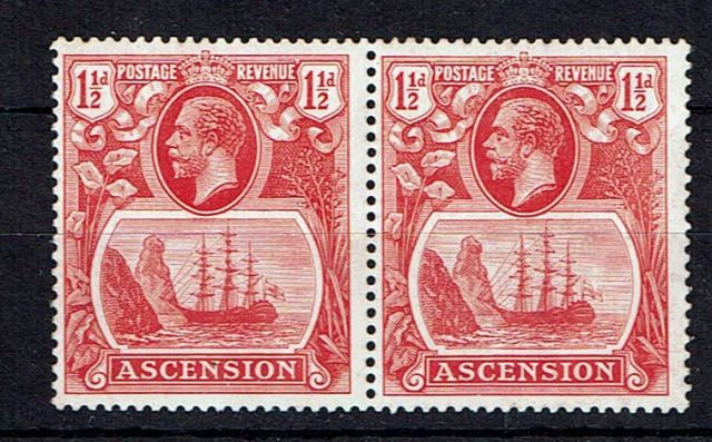 Image of Ascension SG 12/12b UMM British Commonwealth Stamp
