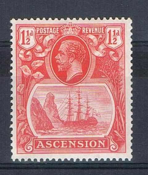 Image of Ascension SG 12b LMM British Commonwealth Stamp