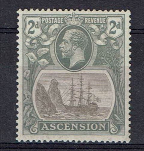 Image of Ascension SG 13a LMM British Commonwealth Stamp