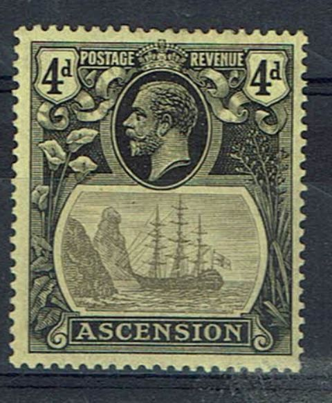 Image of Ascension SG 15a LMM British Commonwealth Stamp