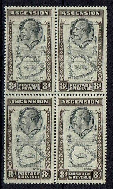 Image of Ascension SG 27/27a LMM British Commonwealth Stamp