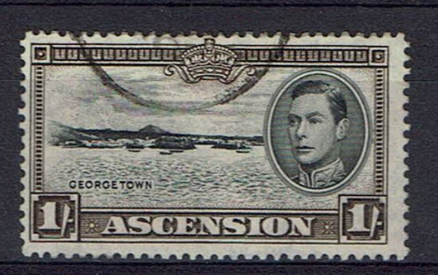 Image of Ascension SG 44var FU British Commonwealth Stamp
