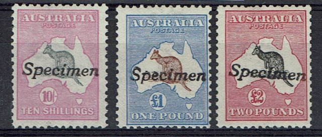 Image of Australia SG 14S/16S LMM British Commonwealth Stamp