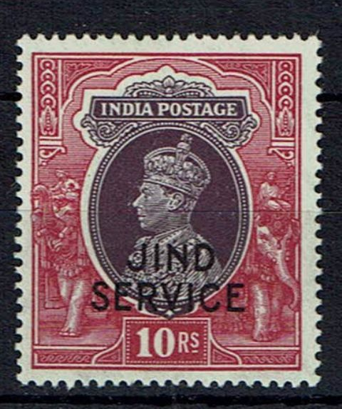 Image of Indian Convention States ~ Jind SG O86 LMM British Commonwealth Stamp