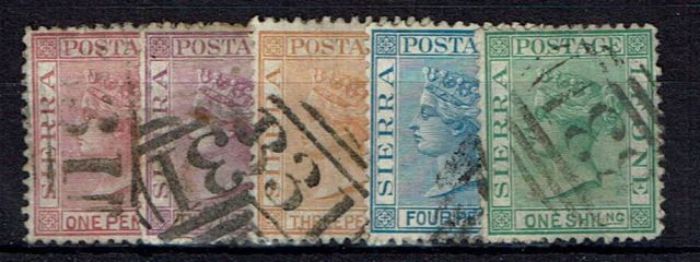 Image of Sierra Leone SG 11/15 G/FU British Commonwealth Stamp